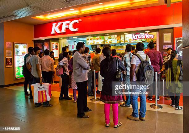 People at food court in a shopping mall Express Avenue Chennai Tamil Nadu India