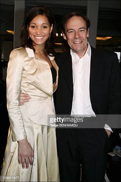 People At Jean Louis Scherrer Fashion Show Haute Couture Spring Summer 2005 On January 26Th 2005 In Paris France Xavier Couture And Miss France 2005...