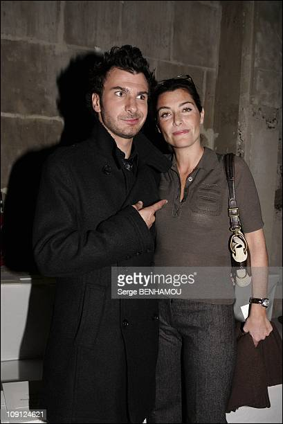 People At Loewe Spring Summer 2005 Ready To Wear Fashion Show In Paris On October 6 2004 In Paris France Mickael Youn And Daphne Roulier
