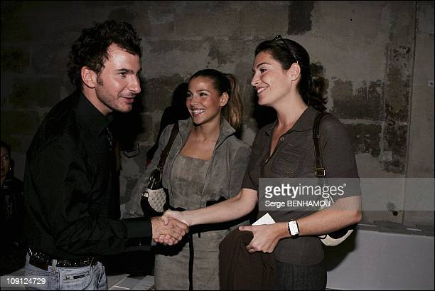 People At Loewe Spring Summer 2005 Ready To Wear Fashion Show In Paris On October 6 2004 In Paris France Mickael Youn Elsa Pataki Daphne Roulier