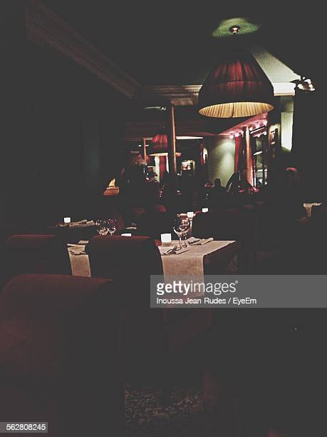 People At Luxury Restaurant Relaxing And Dining In Comfort