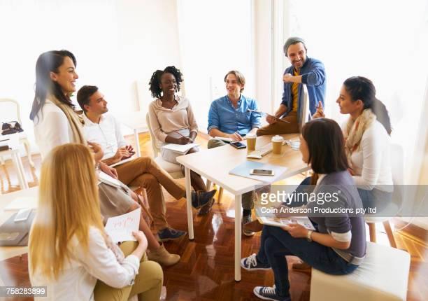 People at meetings in office