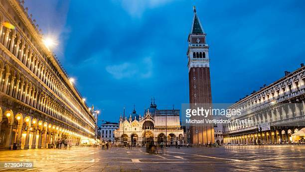 People At Piazza San Marco During Twilight