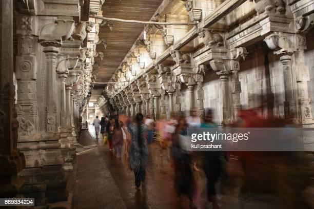 People at Rameswaram Temple, Tamil Nadu