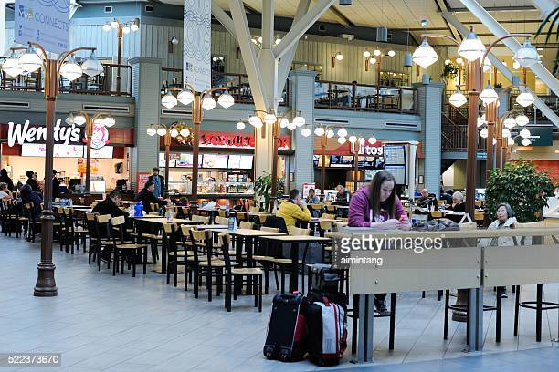 People at Restaurants of Vancouver Airport