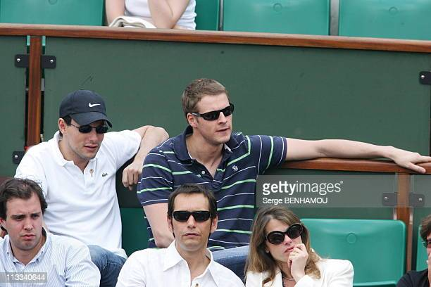 People At The 2006 French Open At Roland Garros On June 3Rd 2006 In Paris France Here Marc Olivier Fogiel And A Friend