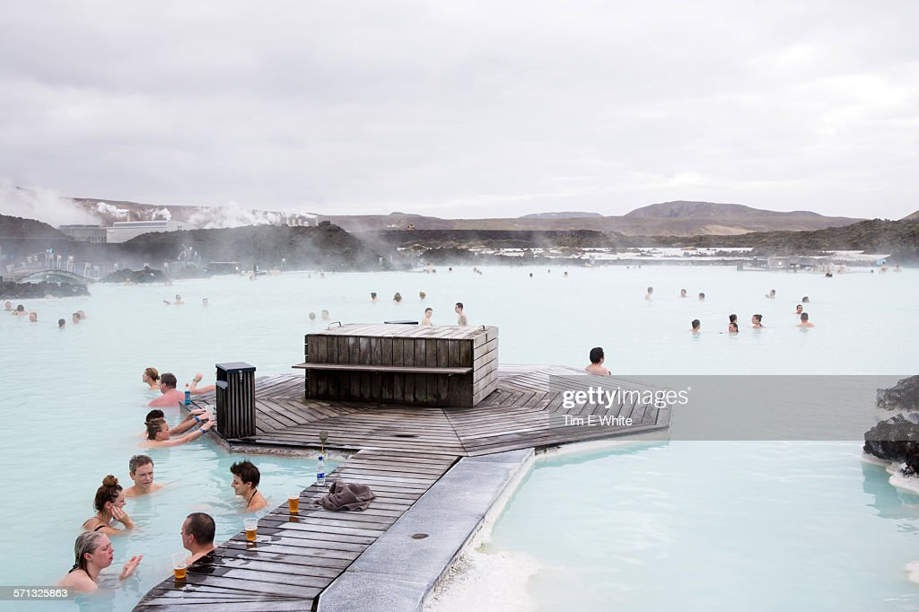 People at the Blue Lagoon , Iceland