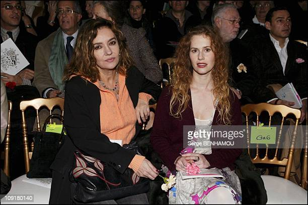 People At The Christian Lacroix Haute Couture Fashion Show SpringSummer 2004 On January 20 2004 In Paris France Caroline Cellier And Florence Darel