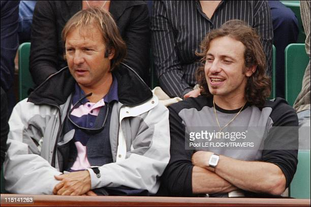 People at the French Open at Roland Garros in Paris France on June 01 2004 Philippe Candeloro