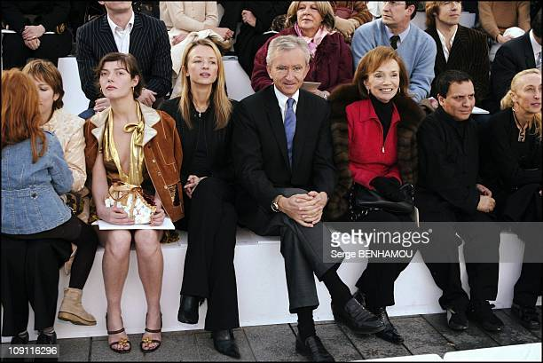 People At The Louis Vuitton'S Fashion Show FallWinter 20042005 Ready To Wear On March 7 2004 In Paris France Camilla Rutherford Delphine And Bernard...