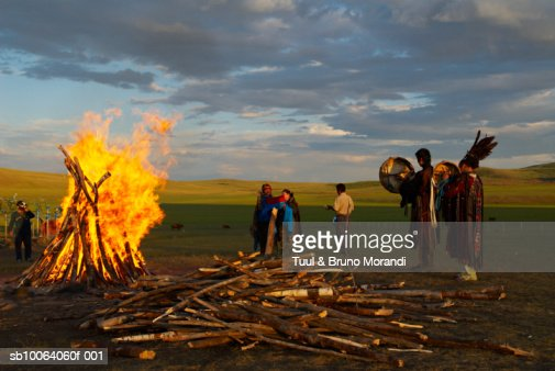 People at traditional ceremony