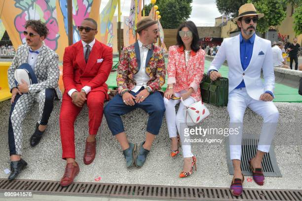 People attend 92nd Pitti Immagine Uomo which is one of the worlds most important platforms for mens clothing and accessory collections in Florence...