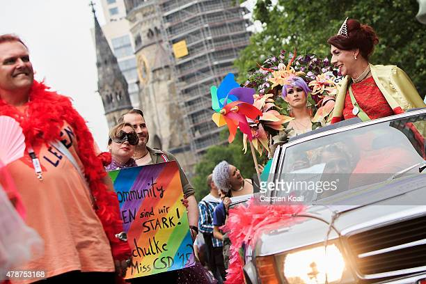 People attend a Christopher Street Day parade on June 27 2015 in Berlin Germany Similar marches are taking place in various cities around the world...
