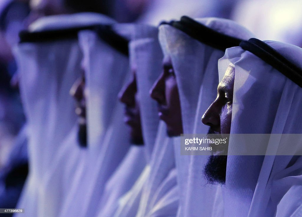 People attend a two-day forum entitled 'Promoting Peace in Muslim Societies' on March 9, 2014 in Abu Dhabi in the United Arab Emirates.