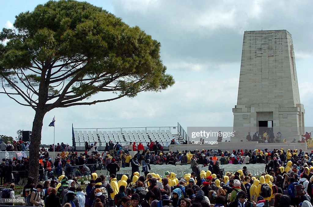 People attend an Australian Memorial Service at the Lone Pine Memorial on April 25 2011 in Gallipoli Turkey Thousands of Australian and New...