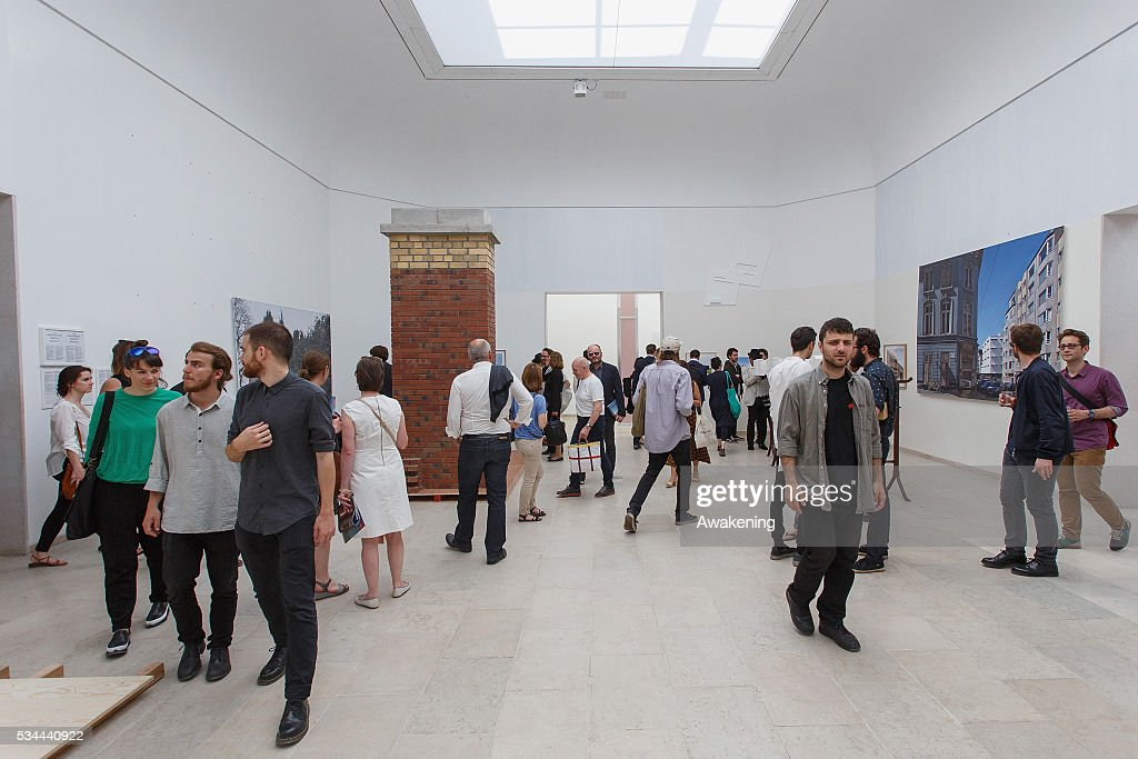 People attend at the Belgium Pavillion of the 15th Architecture Venice Biennale, on May 26, 2016 in Venice, Italy. The 15th International Architecture Exhibition of La Biennale di Venezia will be open to the public from May 28 to November 27 in Venice, Italy.