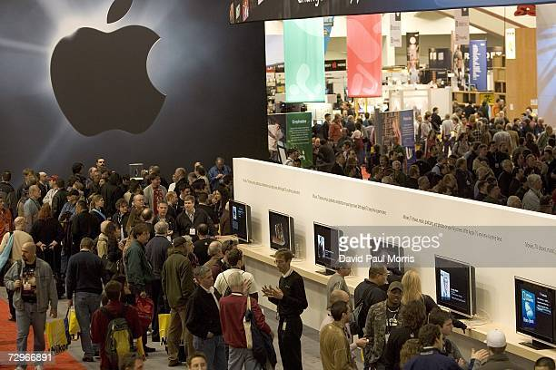 People attend MacWorld on January 10 2007 in San Francisco California The star of the show this year is the new iPhone a device which is controlled...