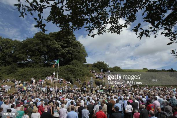 People attend the annual Beal na mBlath commemoration in Skibbereen Cork where Free State leader Micheal Collins was shot dead in 1922Picture date...