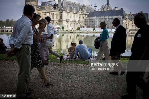 People attend the first edition of the Chantilly Arts and Elegance Richard Mille event on September 7 2014 at the Chantilly Castle in Chantilly north...