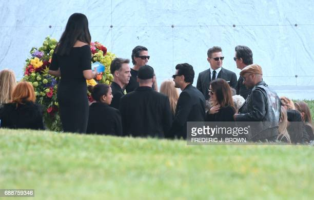 People attend the funeral service for Soundgarden frontman Chris Cornell on May 26 2017 at the Hollywood Forever Cemetery in Los Angeles California J...