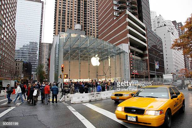People attend the grand opening of the Apple Store on the Upper West Side on November 14 2009 in New York City