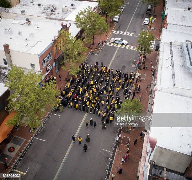 People attend the Jay And Silent Bob Cosplay Guinness Book Of World Records Event on August 5 2017 in Red Bank New Jersey