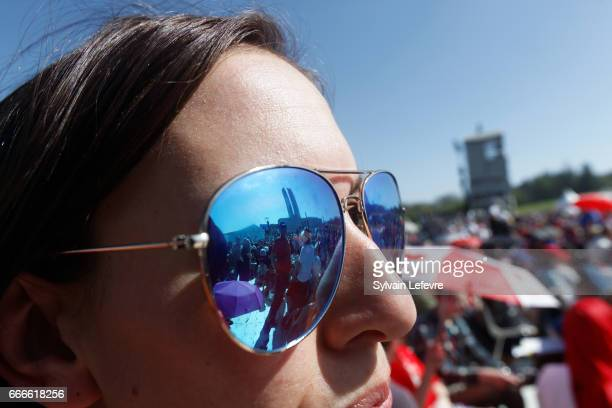 People attend the official ceremony for the Commemoration of the 100th Anniversary of Vimy Battle on April 9 2017 in Vimy France
