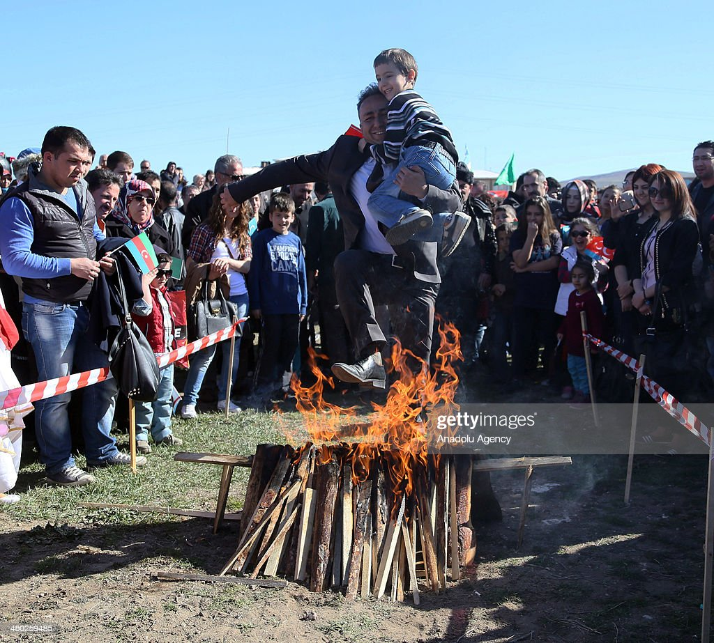 People attend the 'Turkic World Newroz celebrations' that includes different traditional shows such as Turkish Jereed (javelin throw), archery, forging, mounted archery and Caucasian folk dance in Sivas, Turkey on March 23, 2014. Mounted archery and javelin throw attracted most of the people's attention during the festival.