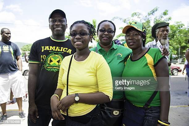 People attend the Twenty first Match of the Cricket Caribbean Premier League between Jamaica Tallawahs v Trinidad and Tobago Red Steel at Sabina Park...
