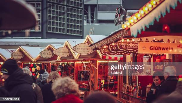 People attending Christmas Market in Berlin