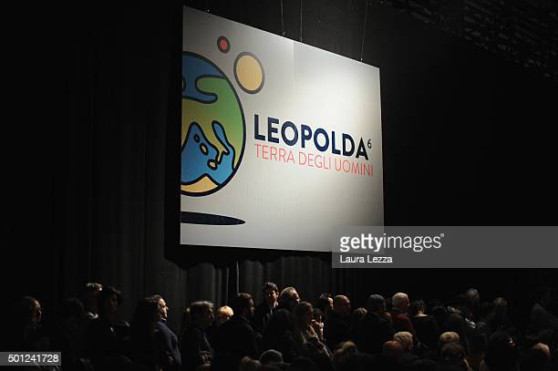 People attends the meeting of the Leopolda 2015 on December 13 2015 in Florence Italy The Leopolda an annual public meeting to discuss Italian...