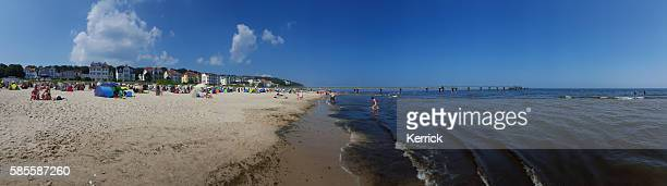 people bathing at the beach - Baltic Sea, Usedom, Bansin
