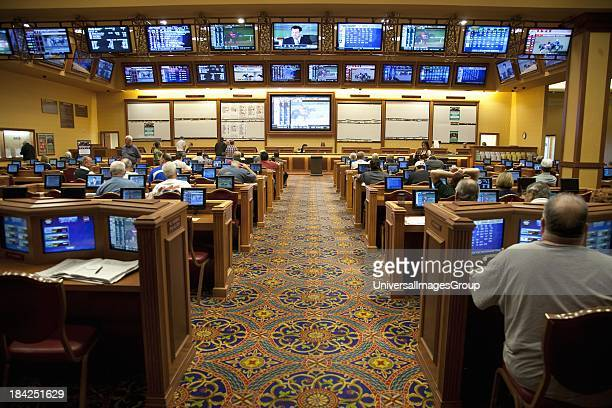 People betting on horse race South Point Casino Las Vegas Nevada