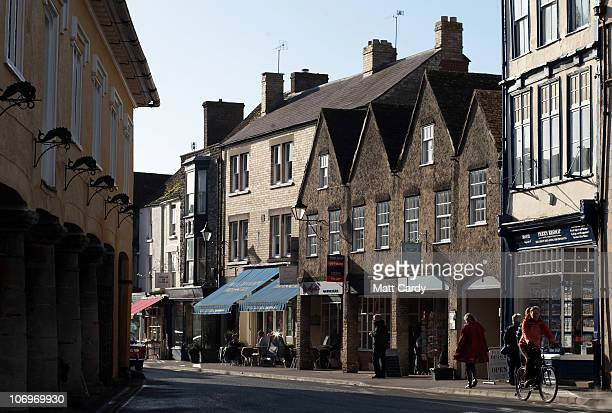 People browse the shops along Tetbury high street on November 19 2010 in Tetbury England The Gloucestershire town is close to Highgrove The Prince of...