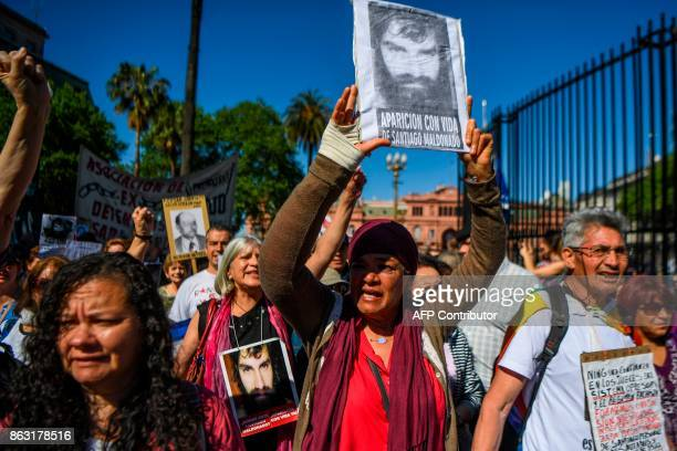 People called by human rights and leftist organizations to protest against the disappearance of Santiago Maldonado a missing activist who went...