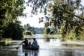 People canoe down South Beltline Road October 6 2015 in Columbia South Carolina The state of South Carolina experienced record rainfall amounts over...