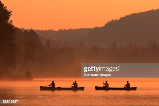 People canoeing on Oxtongue Lake