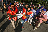 People carry a wounded man at the blast site of an explosion during a peace march in Ankara October 10 2015 Turkey Turkish Health Minister says 86...