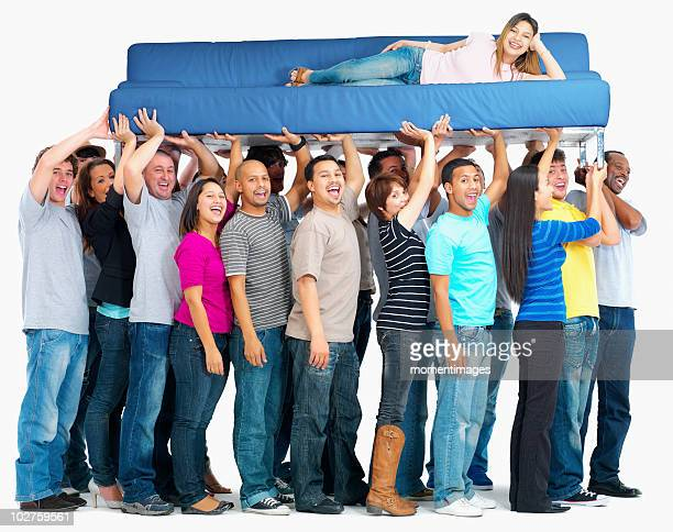 People carrying a couch