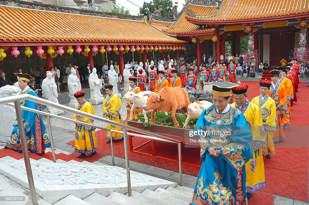 People celebrate the 2,563rd anniversary of the birth of Chinese philosopher Confucius at Confucian temples on Nagasaki, Japan.