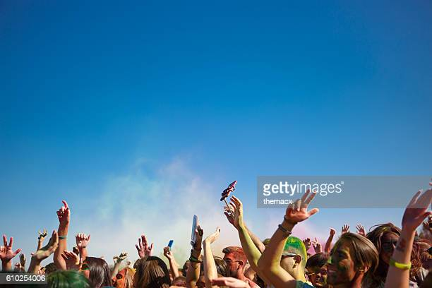 People celebrating the holi festival in izmir - turkey