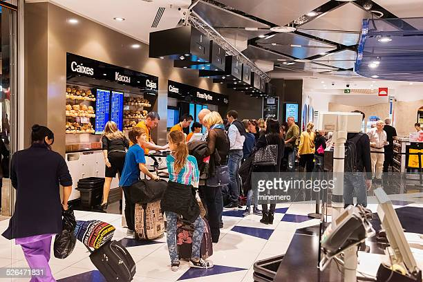 People Checking Out at Barcelona Duty Free Store