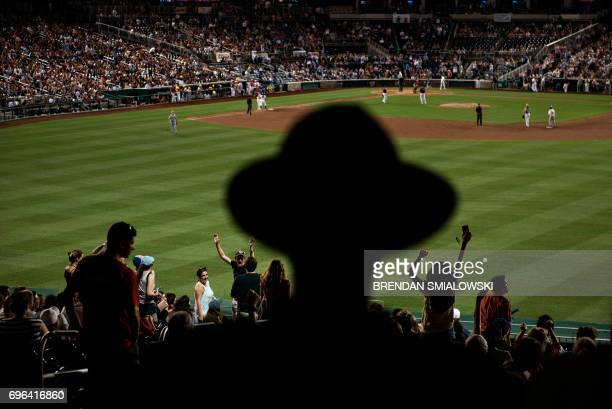 TOPSHOT People cheer during the Congressional Baseball Game between Democrats and Republicans at Nationals Stadium June 15 2017 in Washington DC This...