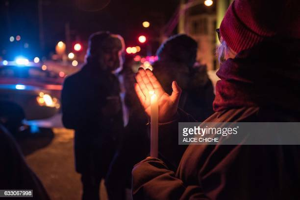 People come to show their support after a shooting occurred in a mosque at the Québec City Islamic cultural center on SainteFoy Street in Quebec city...