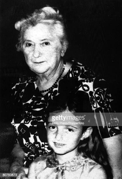circa 1975 A family picture showing Mrs Dora Bloch with her granddaughter Dora Bloch in her 70's was a passenger on an Air France plane hijacked to...