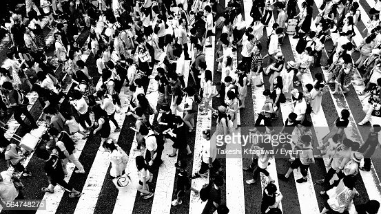 People Crossing Road