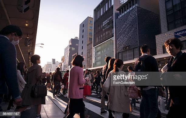 People crossing Shijo-dori shopping street, Kyoto