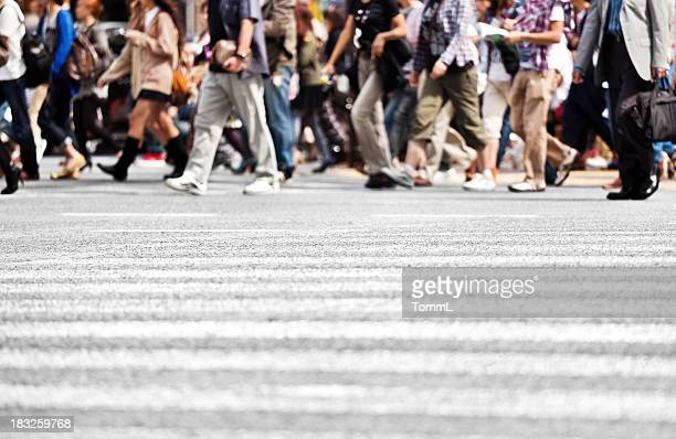 People Crossing Street