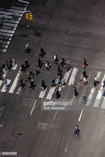 People crossing street, Times Square