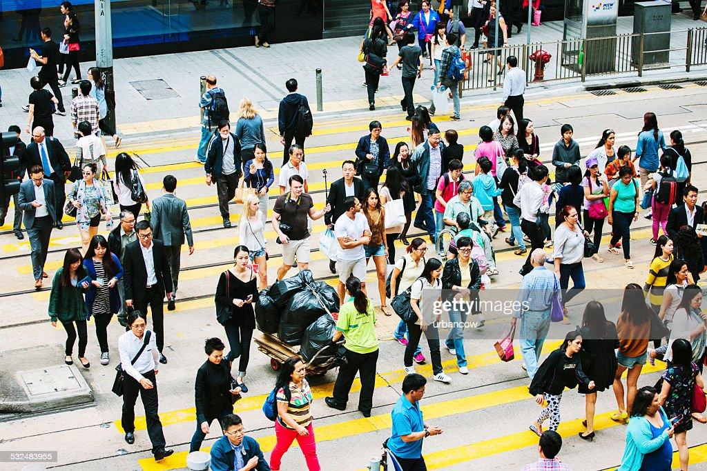 People crossing the road, Central, Hong Kong